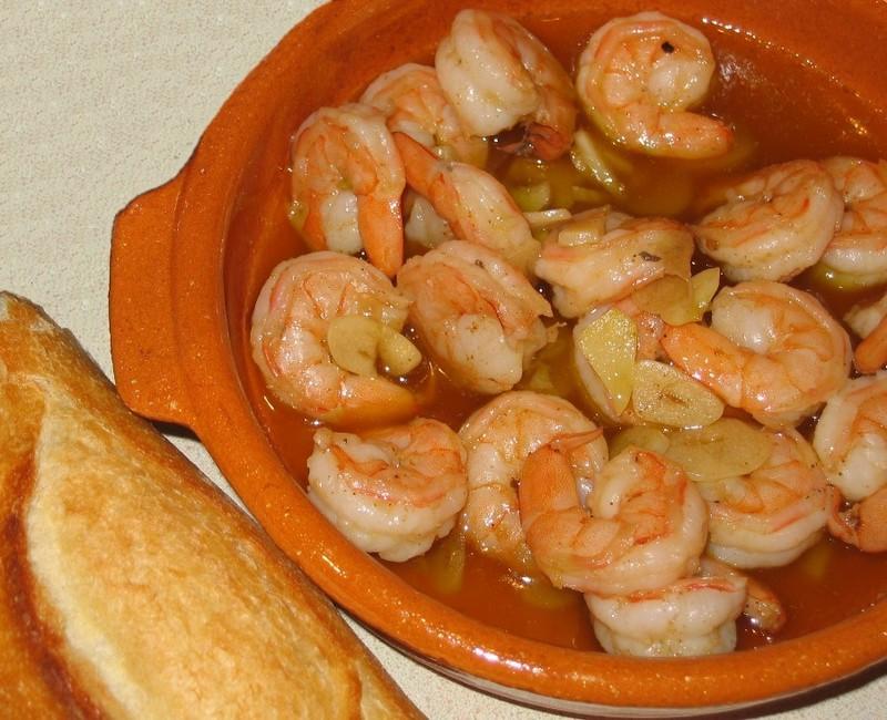 Portuguese garlic shrimp