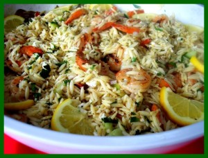 orzo with shrimp and feta