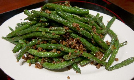 green beans flash fried dry fried green beans recipe 3 4 lb green ...
