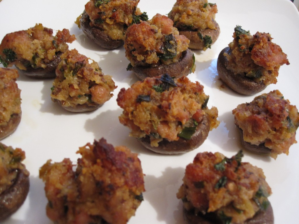 Sausage Stuffed Mushrooms | Rosellyn