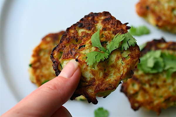 Zucchini Scallion Cakes | Rosellyn