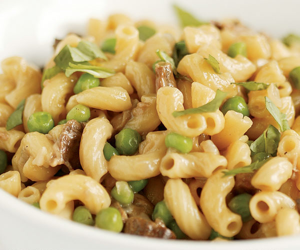 Risotto style Pasta Peas and Mushrooms