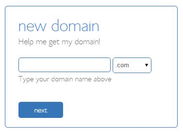 find a domain Bluehost