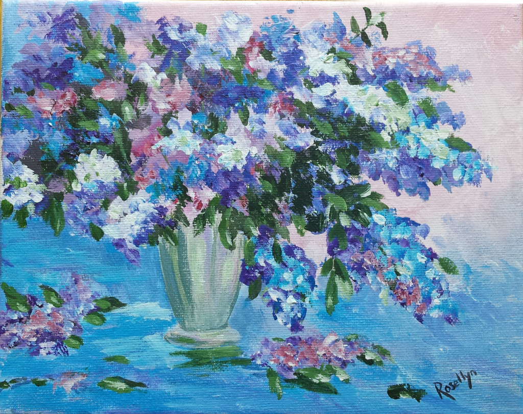 Lilacs in Blue