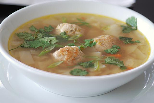 ginger meatball soup