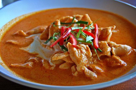 Chicken in Red Curry Pewanut Sauce