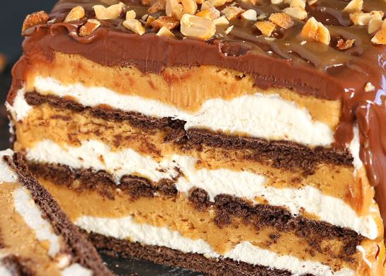 No Bake PNB Caramel Icebox Cake 1