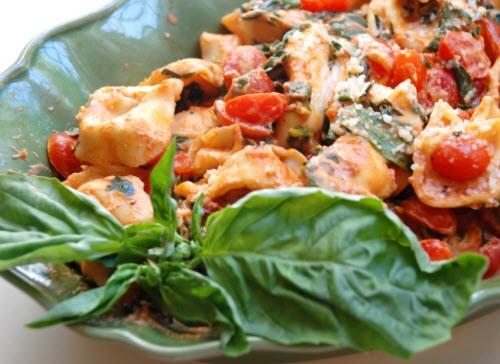 creamy-tomato-basil tortellini