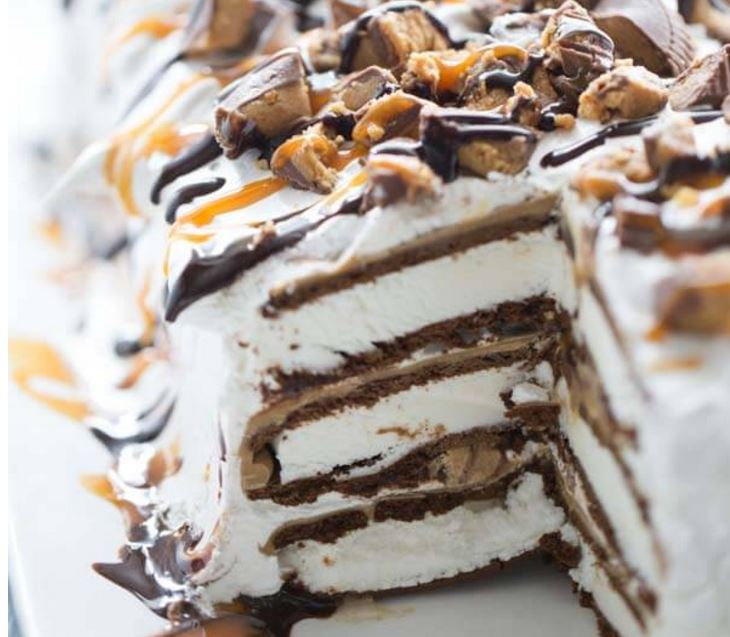 Reeses Ice Cream Cake